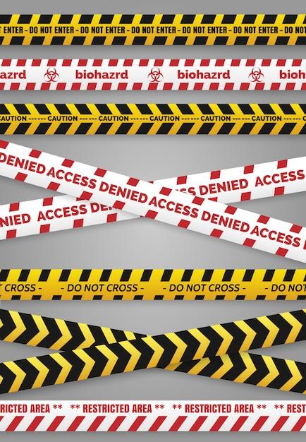 危険建設テープ Premiumベクター