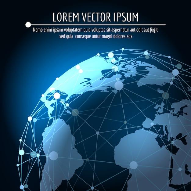 グローバル接続の抽象的な背景 Premiumベクター