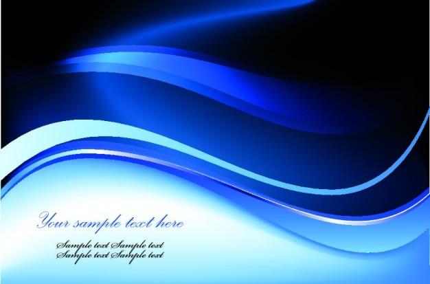 青い波の抽象的な背景 無料ベクター