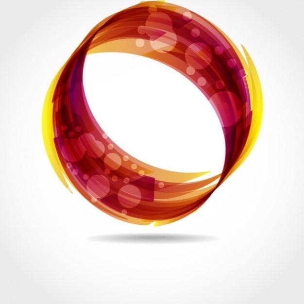 円形の抽象渦 無料ベクター