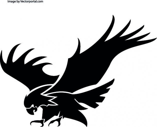 Орел атакует Бесплатные векторы