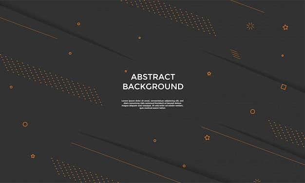Черный фон с динамичной композицией фигур Premium векторы