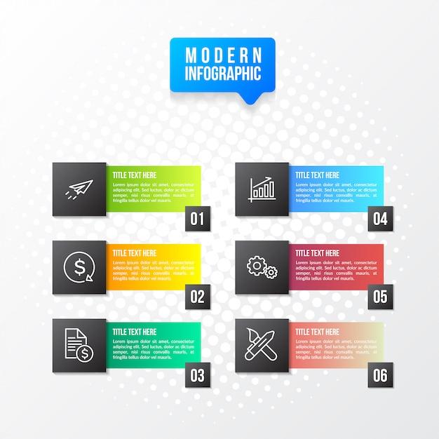 現代のカラフルなインフォ Premiumベクター