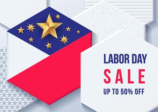 Американское знамя дня труда Premium векторы