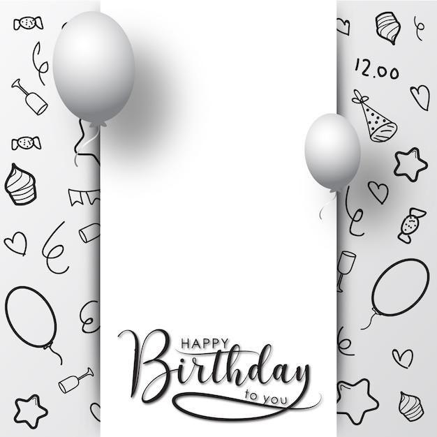Открытка с днем рождения шаблон вектор