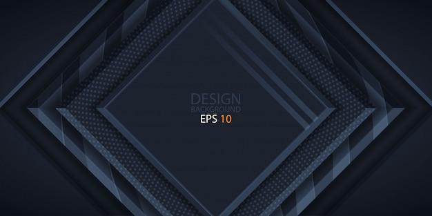 オーバーラップレイヤーと暗いの抽象的な背景 Premiumベクター