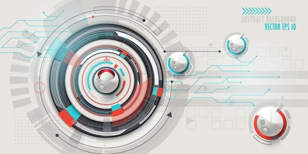 ハイテクデジタル技術の背景 Premiumベクター