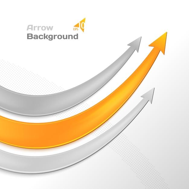 矢印ビジネスの背景 Premiumベクター