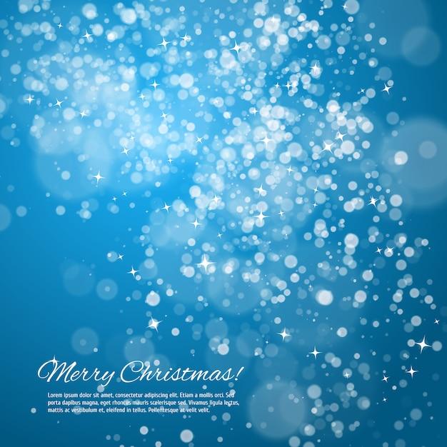Синяя ночь новогодний фон Premium векторы