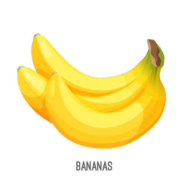 バナナ人気のおいしい食べ物もの熟した Premiumベクター