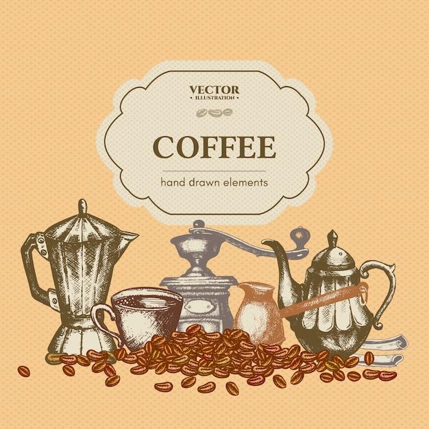 Шаблон меню кофе Premium векторы