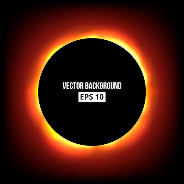 日食の抽象的な背景。 Premiumベクター