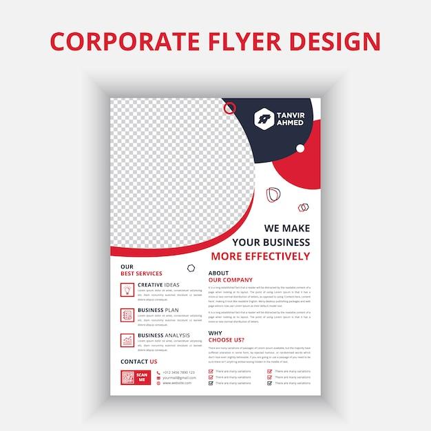 Корпоративный дизайн флаера Premium векторы