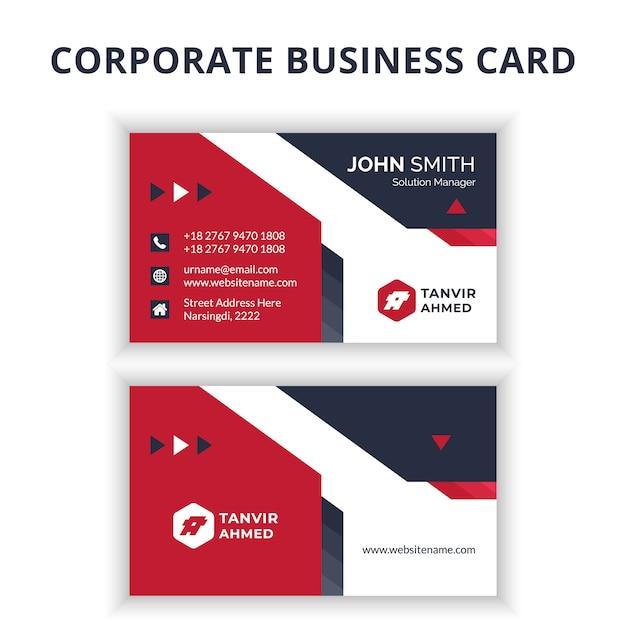 Корпоративный дизайн визиток Premium векторы