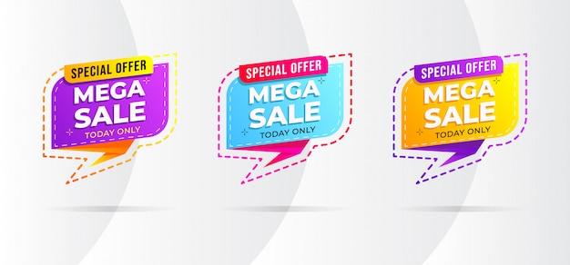 Современный стиль продажи баннеров Premium векторы