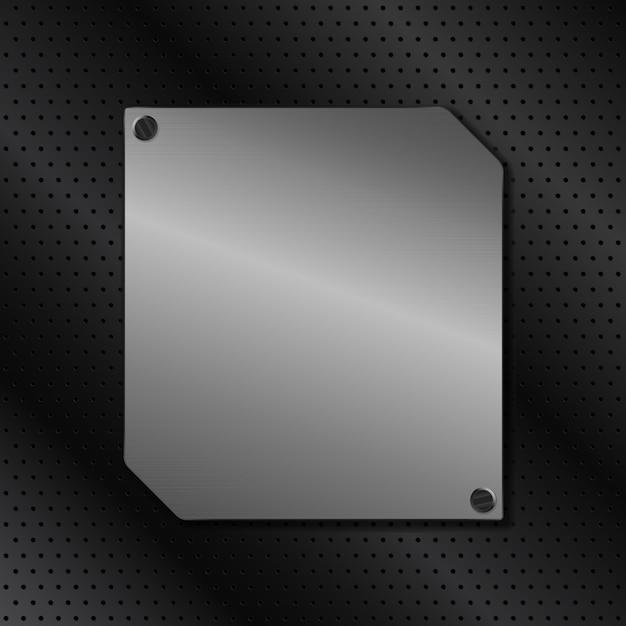 金属板の背景 Premiumベクター