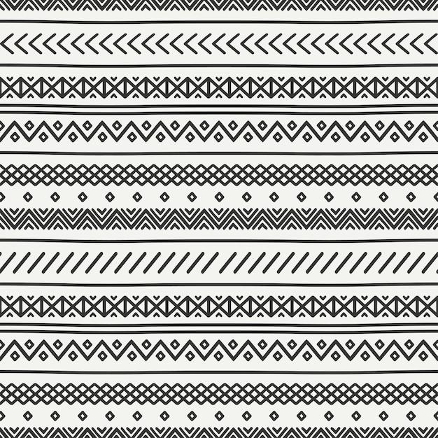 部族手描きのパターン Premiumベクター