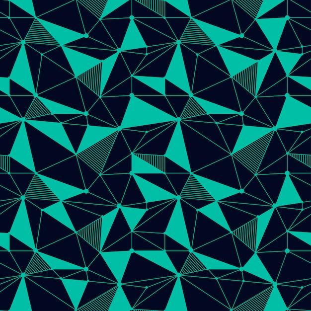 幾何学的な線のシームレスパターン Premiumベクター