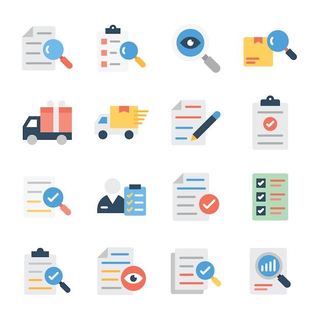 調査および配信フラットベクターパック Premiumベクター