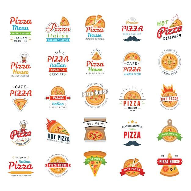 Пицца иконки вектор Premium векторы