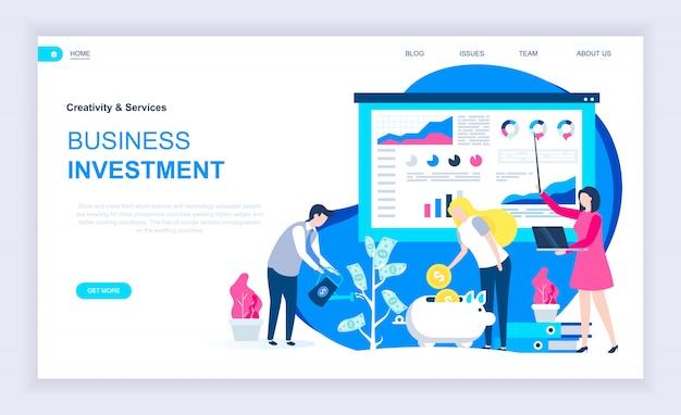ビジネス投資の現代フラットデザインコンセプト Premiumベクター
