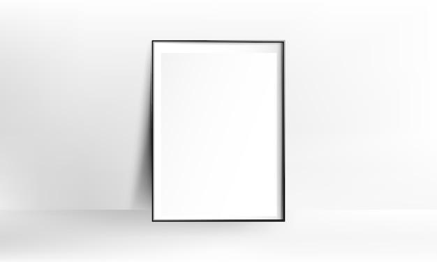 空白のポスターフレームリアルなモックアップ Premiumベクター