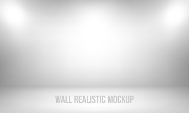 壁のリアルなモックアップ Premiumベクター