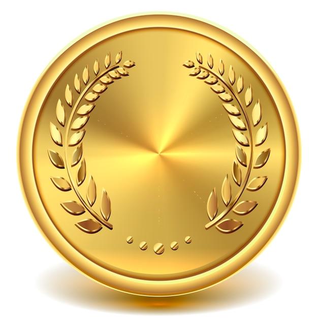 Золотая монета Premium векторы