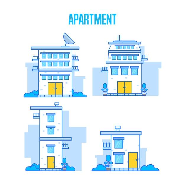 アパート Premiumベクター