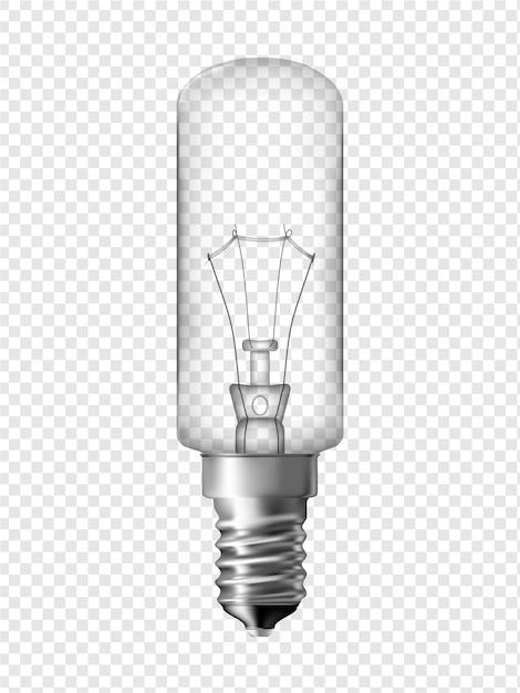 冷蔵庫電球、透明電球のデザイン Premiumベクター