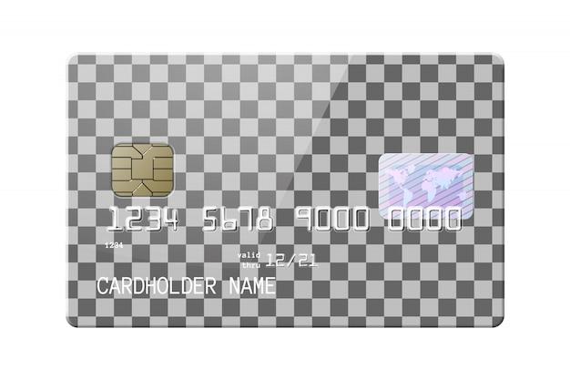 非常に詳細な現実的な光沢のあるクレジットカード Premiumベクター