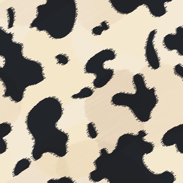 Бесшовные текстуры коровьей кожи. Premium векторы