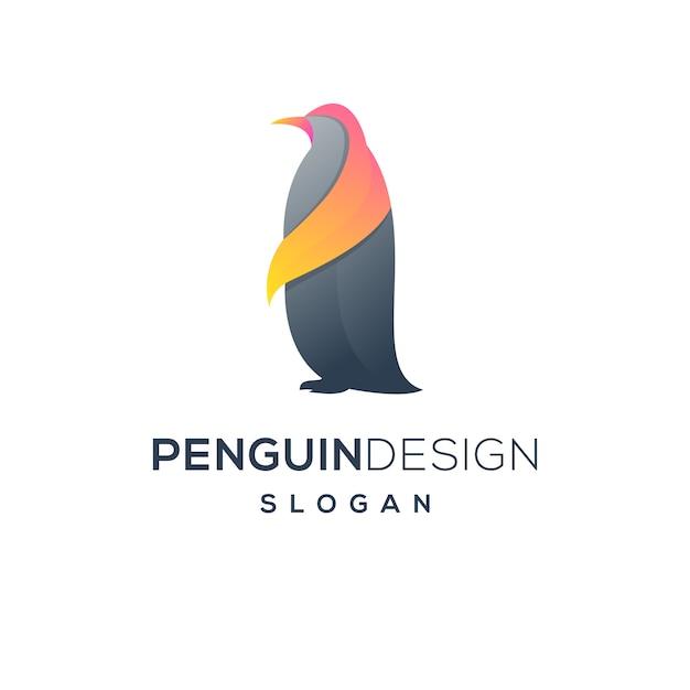 Пингвин логотип Premium векторы