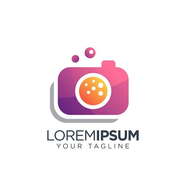 カメラロゴモダン Premiumベクター