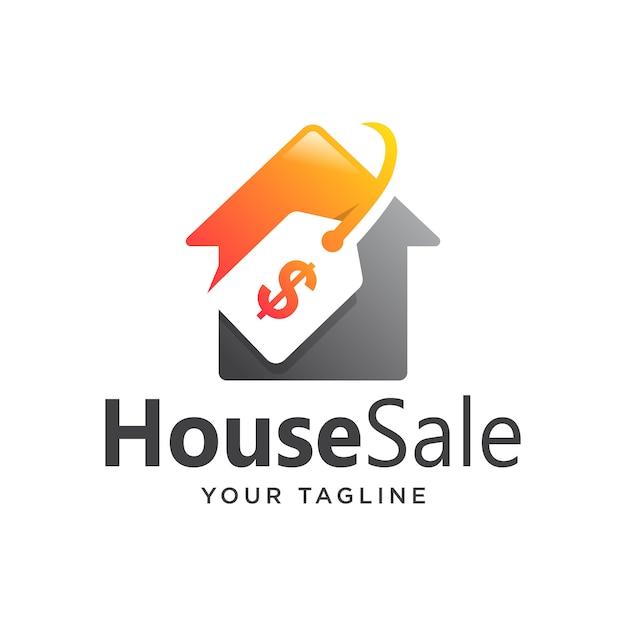 家販売ロゴグラデーションシンプルモダン Premiumベクター