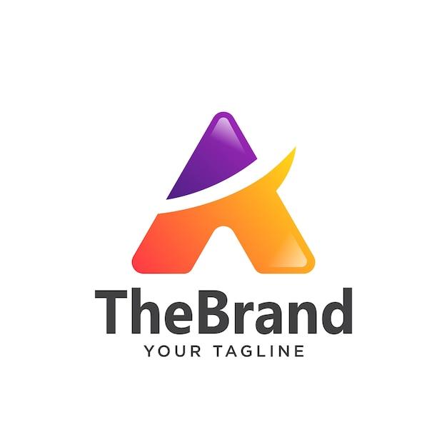 ロゴのシンプルなグラデーションの手紙 Premiumベクター