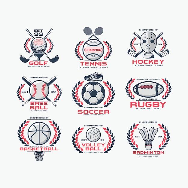 スポーツ国際ロゴベクトル Premiumベクター