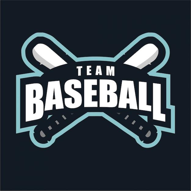 Логотип бейсбольной команды спорта Premium векторы