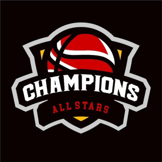 バスケットボールスポーツのロゴチャンピオン Premiumベクター