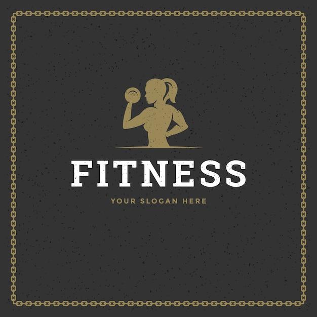 Логотип для фитнеса Premium векторы