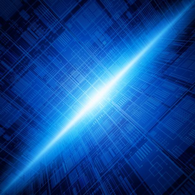 Предпосылка соединений абстрактной технологии базы данных голубая. Premium векторы