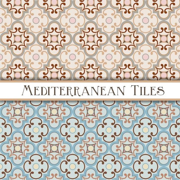 Нежные цвета геометрических средиземноморских узоров Premium векторы