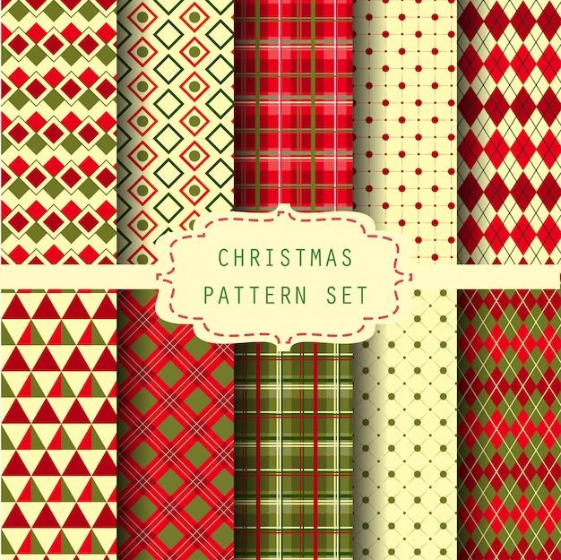 クリスマスパターンセット Premiumベクター