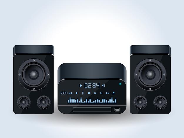 ホームオーディオシステムのリアルなベクトル図 Premiumベクター