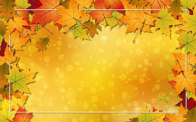 秋スタイルのベクトルの背景 Premiumベクター