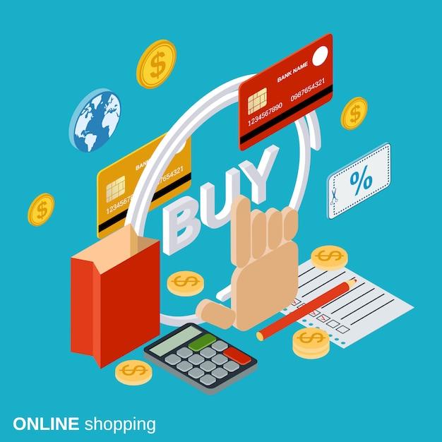オンラインショッピング Premiumベクター