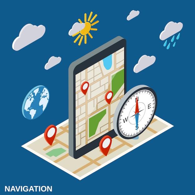 Навигационная иллюстрация Premium векторы