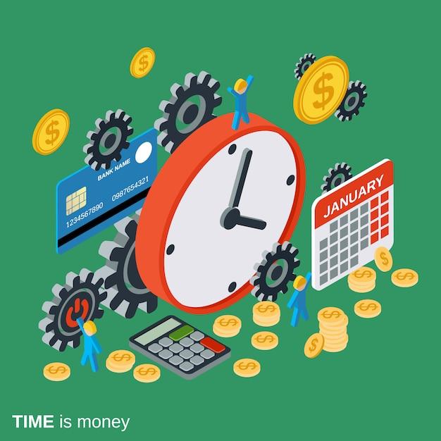 時は金なり、管理、事業計画 Premiumベクター