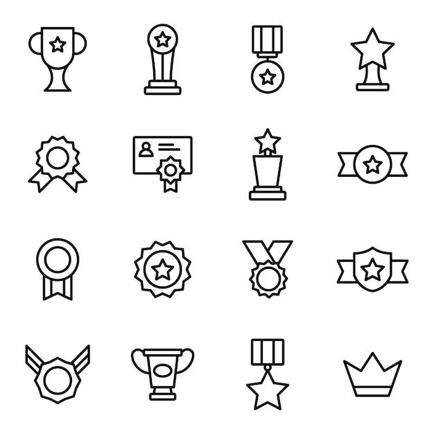 Набор значков для наград Premium векторы