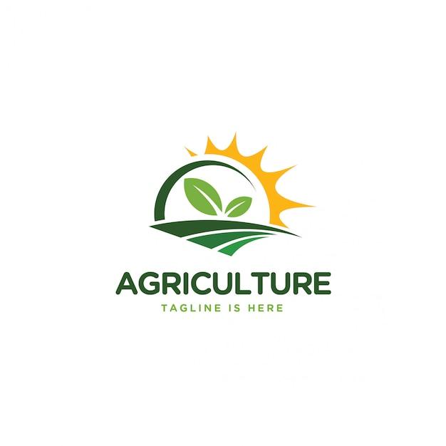 農業のロゴ Premiumベクター